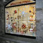 Sweet Shop Window at Christmas Time