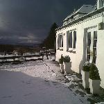 Snow at Coruisk House