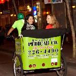Cruising Hotel Street on Honolulu Pedicab.