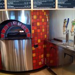 Brick oven and beer taps