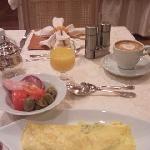 朝食でオムレットを注文