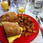 Breakfast Sandwich & Potatoes
