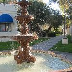 The beautiful fountain near the 700s rooms.