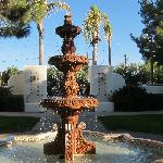 Another view of the fountain near the 700s rooms.