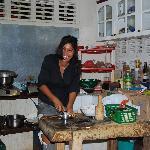 Maria nous prépare un souper Nicaraguyen