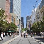 General view of Bourke Street Mall
