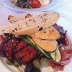 Lunch - Antipasto plate of meats, etc with olive bread!