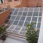 vue de notre balcon sur la piscine!!