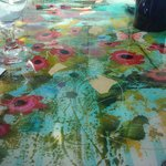 A colorful table top at Judie's