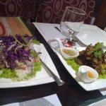 Chicharon Bulaklak and Spicy Tuna Salad