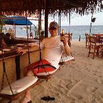 Swing seats at Baja Cantina. GO THERE!
