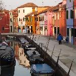 Murano, famous for its brightly painted houses.