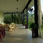 open air bar area