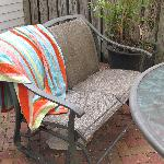Outdoor patio would have been nice, but the black mold all over the furniture was a deterrent