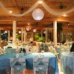 Reception area for Beach weddings