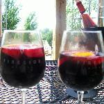 nice glass of wine on the patio