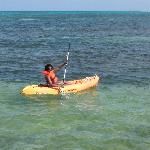 Kayaking off Victoria House beach