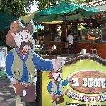 Sign and setting at El Bigote