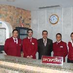 The friendly Reception staff