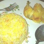 Chicken Mendy - the rice taste like Briyani but nice herbs taste
