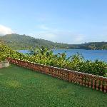 vue de la terrasse sur la baie