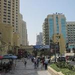 Eateries and stores along the beack - walking distance