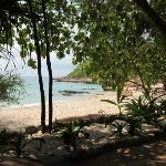 Ao Nuan beach from the beach-side dining seating area