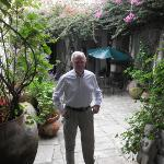 David Orr in the entry courtyard