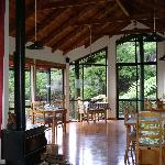 Dining room - magic views, and beautiful workmanship and art