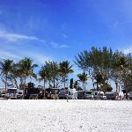 Red Coconut RV Park seen from the beach