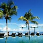Swimming pool facing to Bunaken island