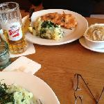 schnitzel and beer - just great
