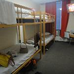 room with 2 bunk beds
