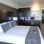 Deluxe King room at the Amora Wellington