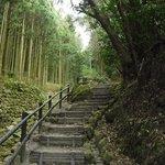 磨崖仏までの階段