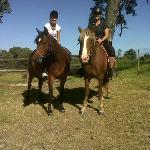 After a ride, still smiling :-)