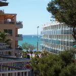 Vue de la chambre 320 sur la mer et la plage de Palma