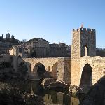 medieval bridge at nearby Besalu