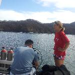 Karrina on the boat