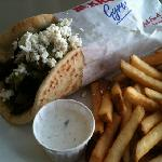 gyro special with lamb