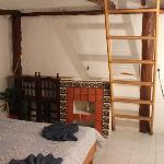 The smallest cabin room also has a little sleep loft, but no kitchen or ac, and not as much air