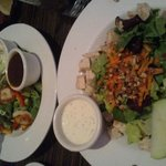 scallop salad and waldorf chicken salad