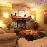 Heffley Boutique Inn Fireplace in Lobby