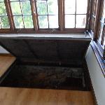 trap door to shower room!