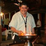 Lalo making Lalo Shrimp, yummy