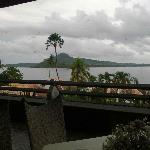 Great view of Samar from balcony restaurant