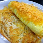 western omelette with hashbrown
