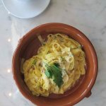 $18 Tagliatelle with bacon & cheese sauce