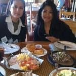 Clockwise L-R: Lumpia sampler, Beefsteak, Pansit Palabok, Lechon Kawali, Bagoong Fried Rice