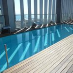 View of the rooftop swimming pool
